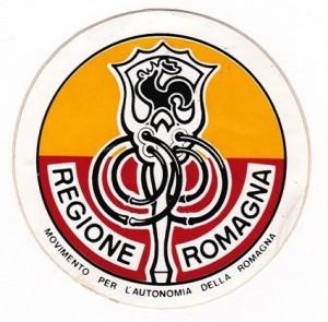 Regione Romagna - adesivo diametro 10 cm