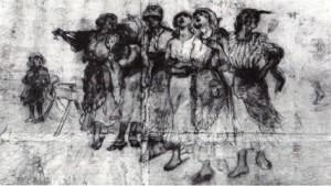 TOMMASO DELLA VOLPE -  Donne di Romagna - 1923